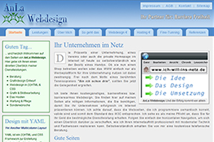 Screenshot von AnLa Webdesign.de