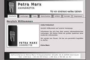 Screenshot von Petra Marx.de